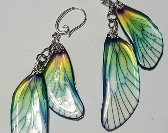 Iridescent Dragonfly Wings Earrings