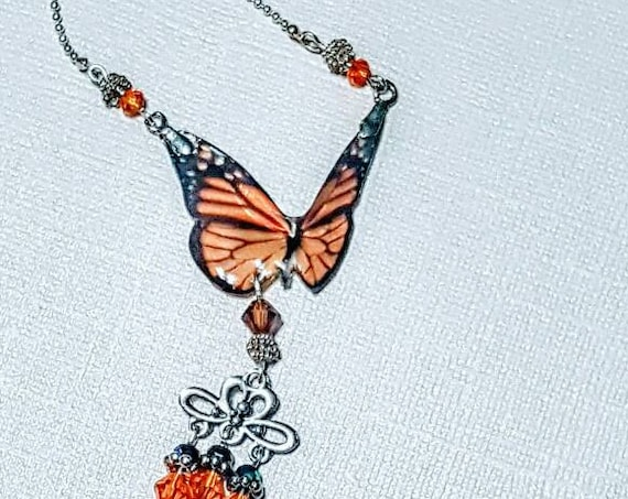 Butterfly Adornment Rearview Mirror Charm