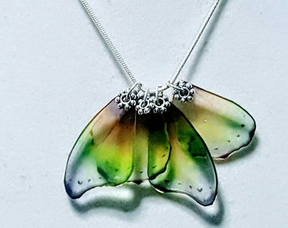 Pastel Rainbow Butterfly Wings - Necklace
