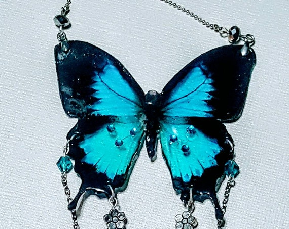 Butterfly Adornment Large Rearview Mirror Charm
