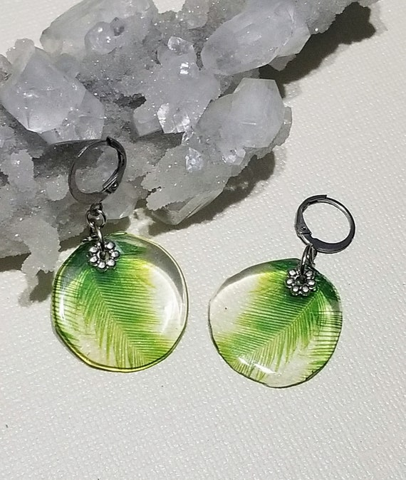 Feathery Leaf Earrings