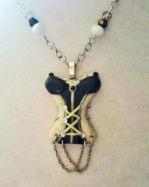 Sexy Corset Necklace, Gothic Queen