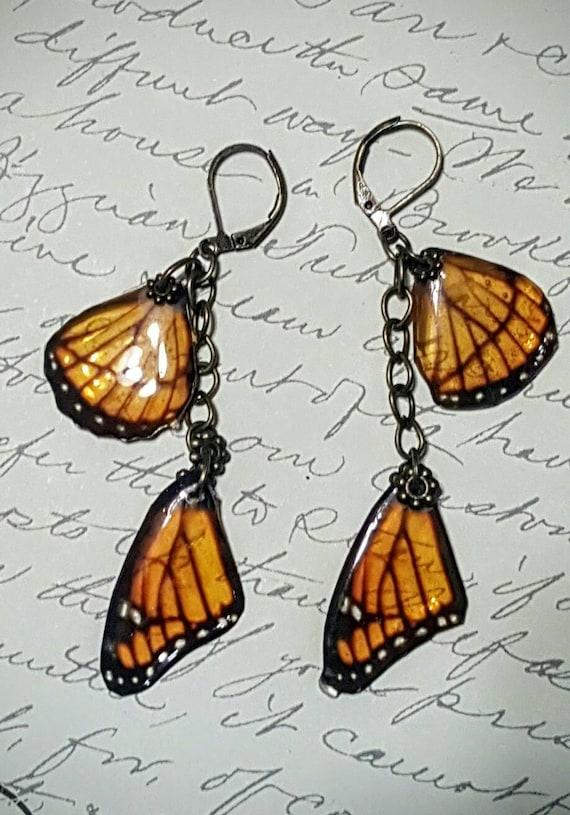Monarch Wing Earrings