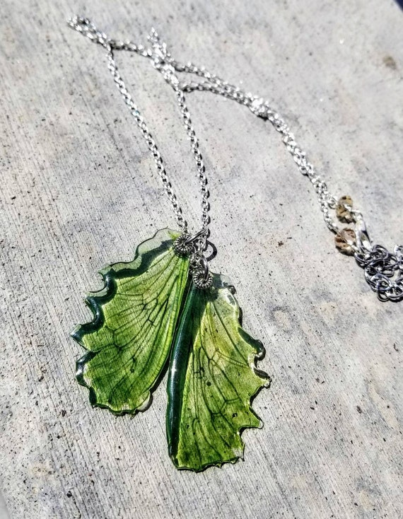 Spring Dragonfly Wings - Necklace