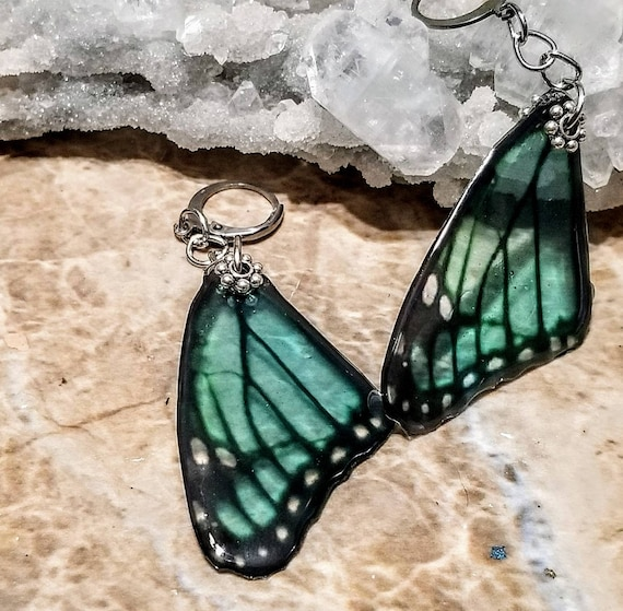 Turquoise Single Butterfly Wing Earrings