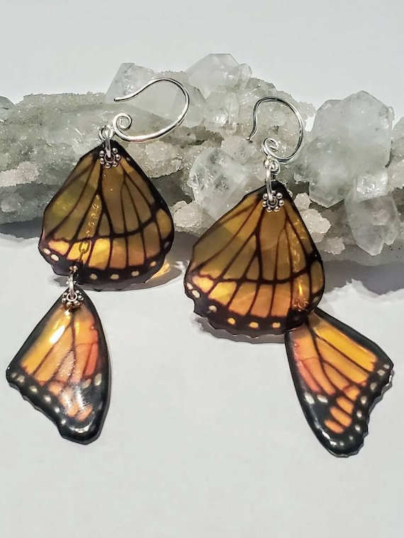 Double Monarch Wing Earrings