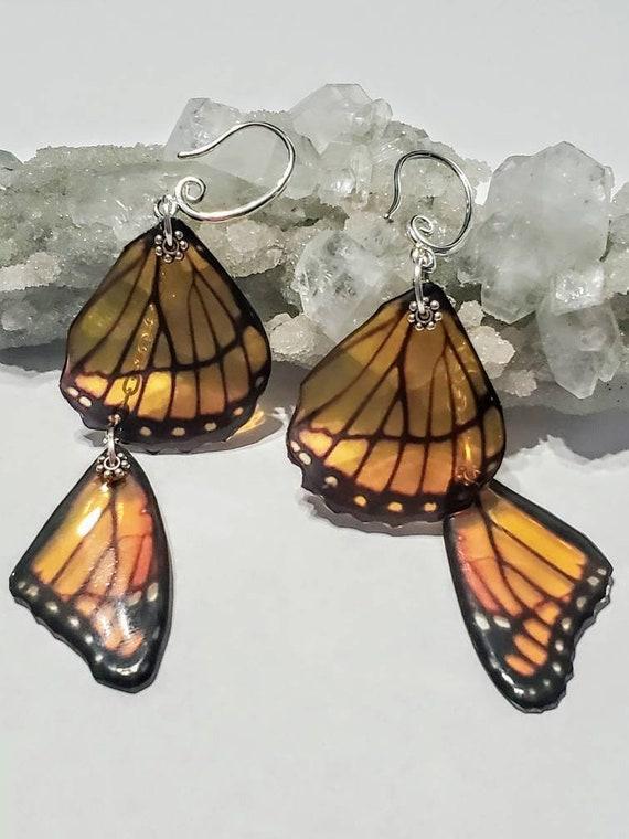 Double Monarch Wing Earrings