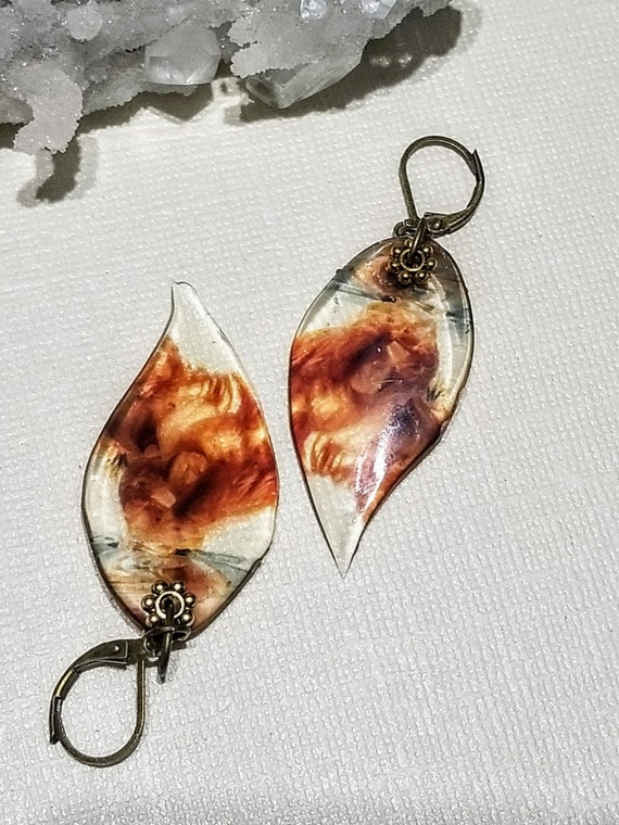 Bronze Smoke Earrings