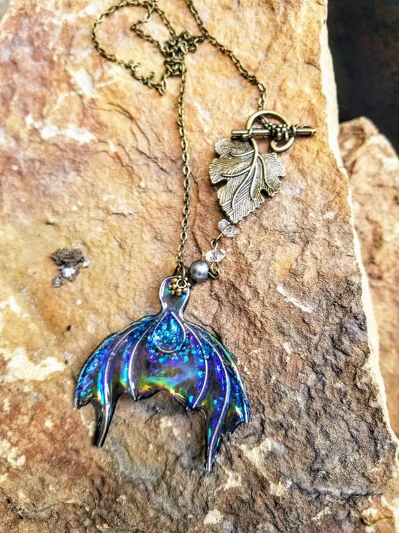 Mermaid Fin Necklace - Deep Ocean
