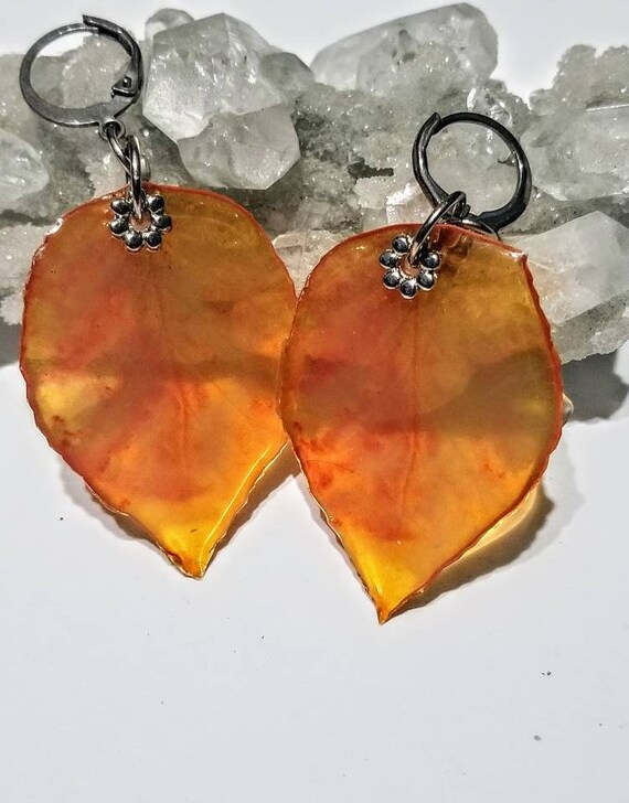 Fiery Leaf Earrings