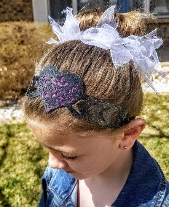 Sparkle Vinyl Headband - Filligree Heart
