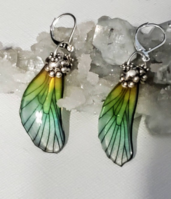 Fairy Sunrise Dragonfly Wings Earrings
