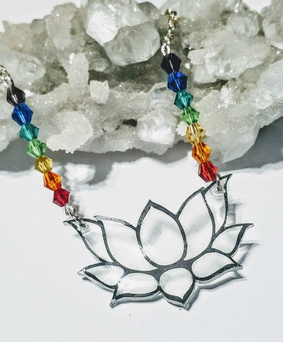 Lotus Flower Chakra statement necklace.