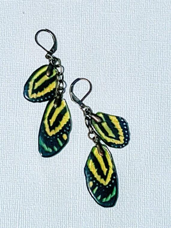 Spring Green Wings Earrings