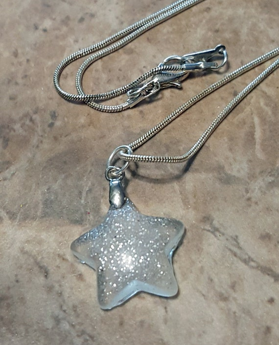 North Star Necklace and Earrings - Glow in the Dark