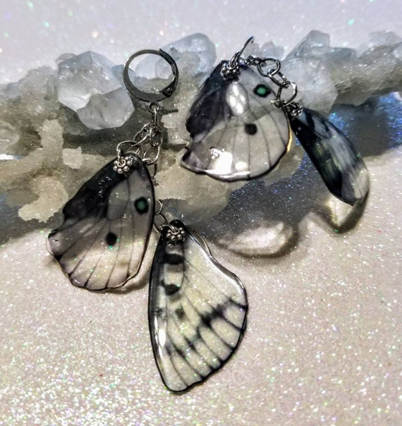Glass Butterfly Wing Earrings