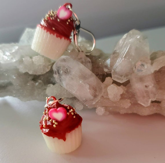 Red Velvet Cupcake Earrings - SCENTED