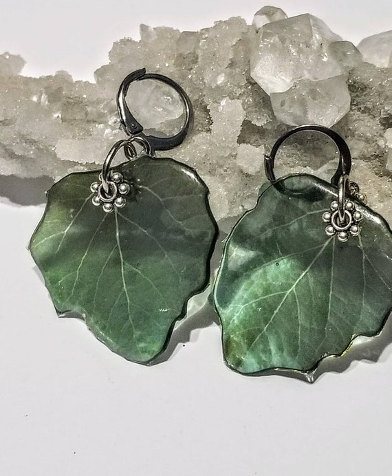 Spring Aspen Leaf Earrings