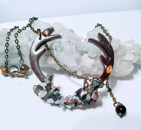 Spirit Guide necklace,  chakra totem- quartz and topaz