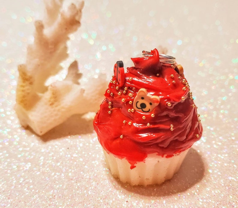Res Velvet Cupcake with Sprinkles Charm SCENTED