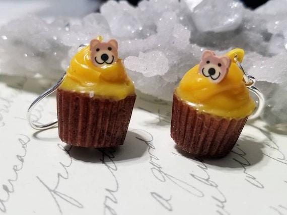 Bear Cupcake Earrings