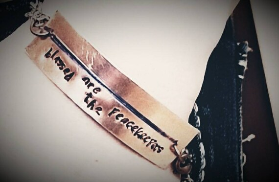 "Law Enforcement Support bracelet - ""blessed are the peacekeepers"""
