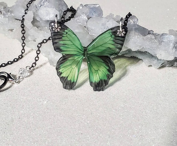 Small Butterfly Elegant Necklace - choose your color