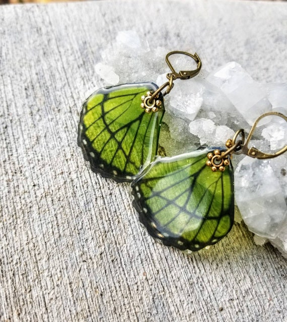 Single Small Butterfly Wing Earrings - choose your color