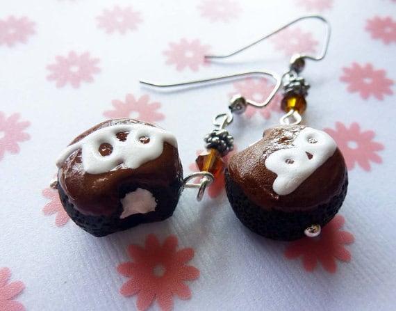 Hostess Cupcake Earrings