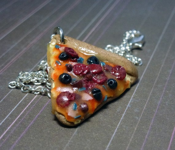 Supreme Pizza Necklace