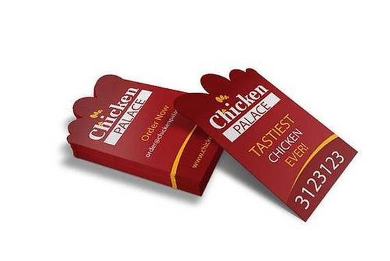 Custom shape business cards die cut business cards unique etsy colourmoves