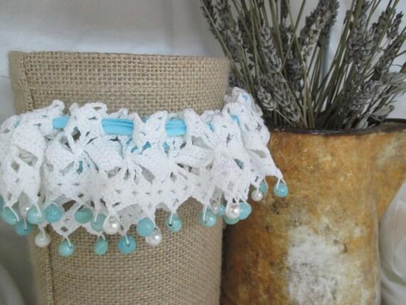 Crochet Lace Beaded Bridal Garter Pattern Etsy