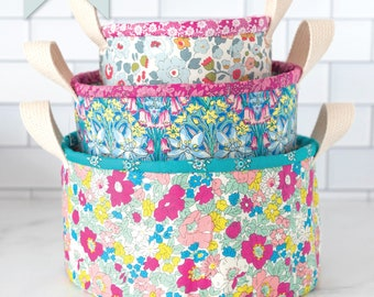 Nesting Fabric Baskets Sewing Pattern | Digital PDF
