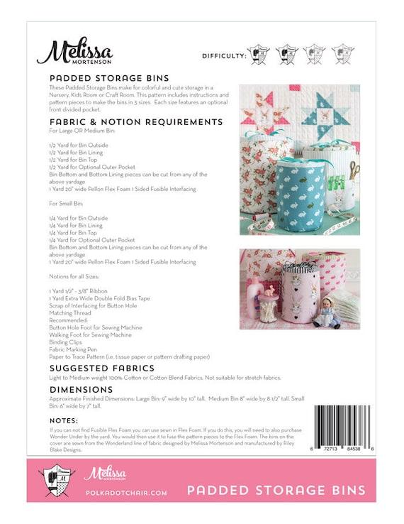 Padded Storage Bins PDF Sewing Pattern | Etsy