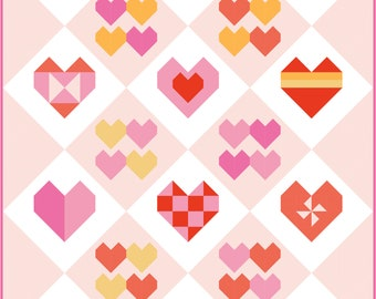 All the Hearts 2021 Quilt Block of the Month | Digital PDF Pattern