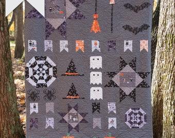 Spooky Sampler Halloween Quilt Pattern | Digital PDF