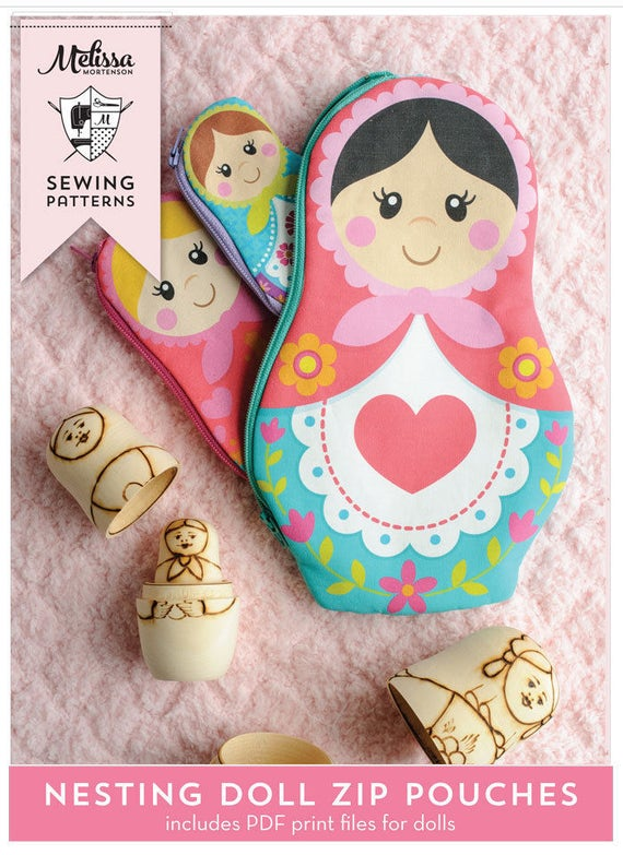 Nesting Dolls PDF Sewing Pattern And Printable Pieces
