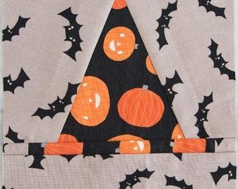 Witch Hat FPP Pattern for Halloween Haberdashery Quilt | Digital PDF