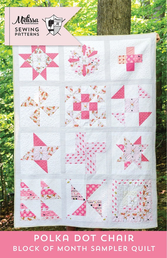Polka Dot Chair Block of the Month Quilt Pattern