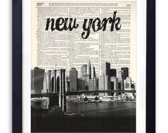 Kansas City Skyline 4 Upcycled Dictionary Art Print | Etsy