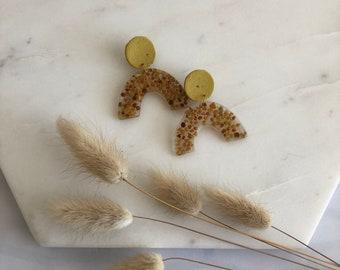 Pollen Clay Earrings. Bee Pollen Earrings.
