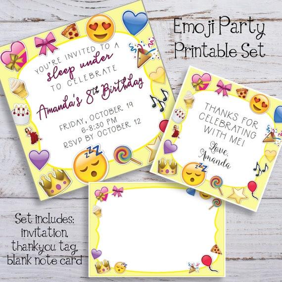 EMOJI Party Printable Set Print Home OR Upload To