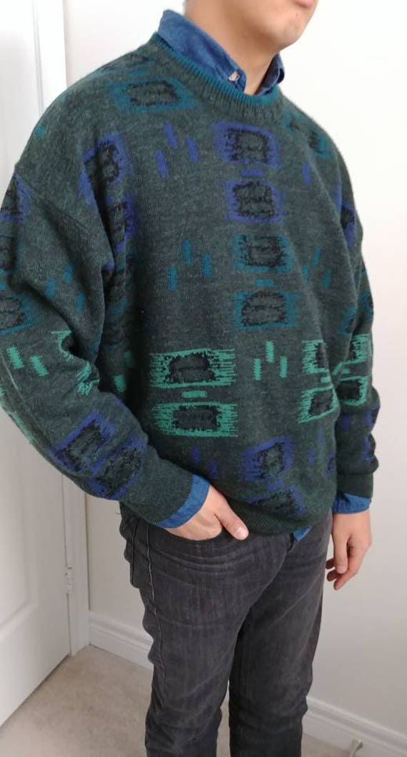 Mens Hipster Vintage 90s  Quality Double Jacquard