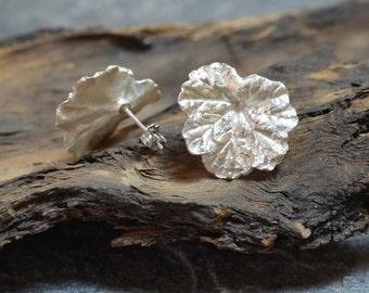 silver large posts, leaf earrings, natural leaf jewelry, botanical earrings, organic earrings, big stud earrings, nature inspired, boho chic