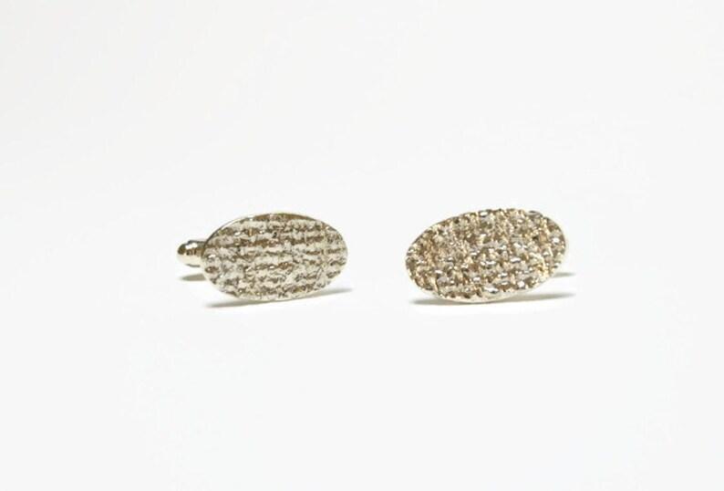 groomsmen gift burlap organic cuff links men/'s cufflinks rustic wedding cuff links gift for him textured cufflinks silver cufflinks