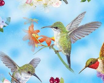 Lily and Hummingbird on Gray Set of 3 cloths Swedish Dishcloths ECO  Absorbent C