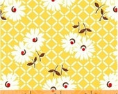 Sugar Sack 2 - Daisy Grid in Yellow - 1930 39 s Vintage Reproduction Fabric - Whistler Studios - Windham - 51446-3 - By the Half Yard