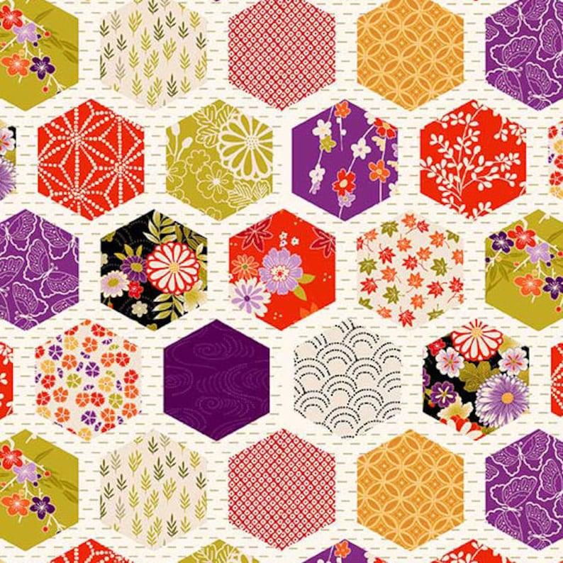 "New ""Hello Jane"" For Windham Fabrics Fat Quarter Cream Floral Quilting Cotton"