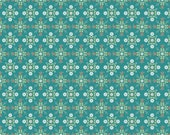 Chick-A-Doodle-Doo by Poppie Cotton - Teal Cafe Curtains - POCCD21703 - Yardage Cut Continuously