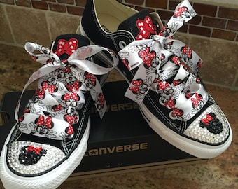 Adult size mouse bling converse